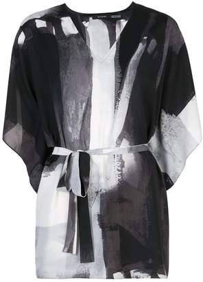 Natori printed kaftan top