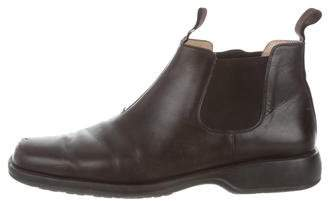 Salvatore Ferragamo Leather Chelsea Boots