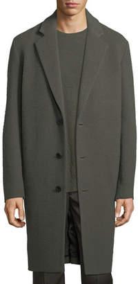 Vince Distressed Wool-Blend Car Coat