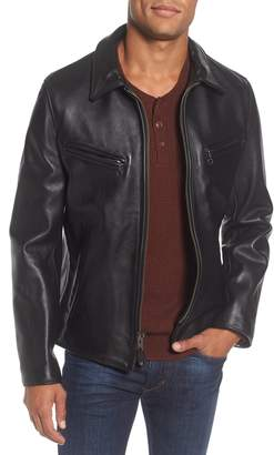 Schott NYC Slim Fit Leather Jacket