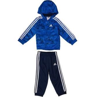 021a65d4d94 adidas Baby Boys Shiny Hooded Jogger Set Hi-Res Blue/Collegiate  Navy/Collegiate