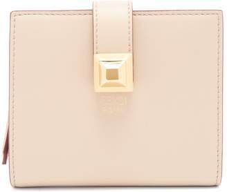 Fendi Stud-embellished expandable leather wallet