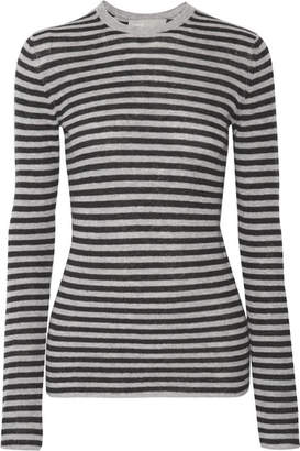 Vince - Striped Cashmere Sweater - Gray $265 thestylecure.com