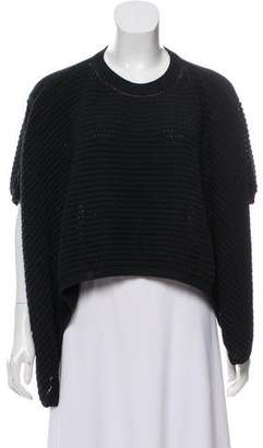 3.1 Phillip Lim Cropped Short Sleeve Sweater