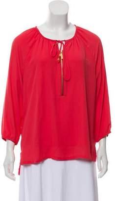 MICHAEL Michael Kors Long Sleeve Peasant Top