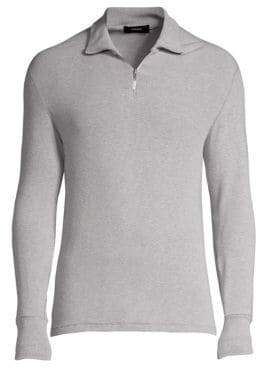 Theory Cloud Ribbed Half-Zip Pullover