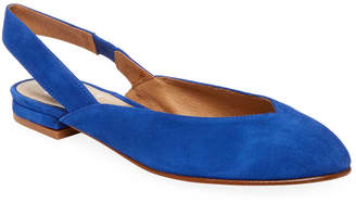 French Sole Close Suede Slingback Flat