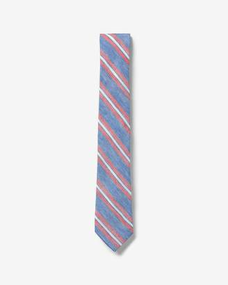 Express Narrow Diagonal Striped Silk Tie