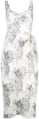 Zimmermann pineapple print midi dress