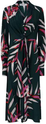 Diane von Furstenberg Leaf Print Silk Dress