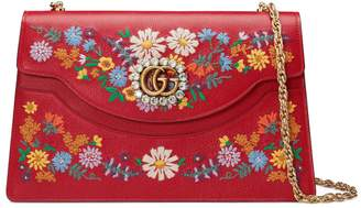 Gucci Medium Embroidered Floral Leather Shoulder Bag