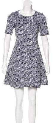Kenzo Virgin Wool-Blend Patterned Dress
