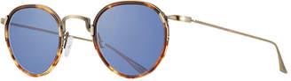 Barton Perreira Men's Aalto Matte Metal Sunglasses, Brown
