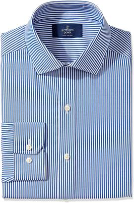 Buttoned Down Men's Fitted Spread-Collar Small Geo Non-Iron Dress Shirt