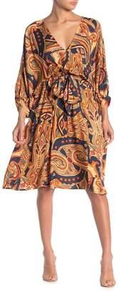 Love Stitch Paisley Print Midi Dress