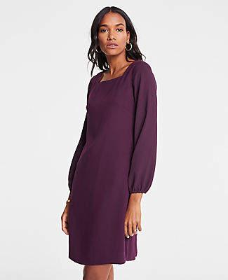Ann Taylor Petite Sheer Sleeve Shift Dress