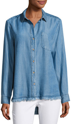 Velvet Heart Camisa Button-Down Shirt, Indigo $69 thestylecure.com
