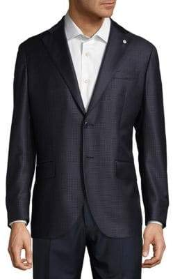 Lubiam Checkered Wool Sportcoat