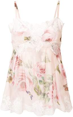 Dolce & Gabbana lace trim trim floral camisole