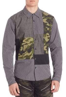 PRPS Regular-Fit Multi Media Woven Shirt