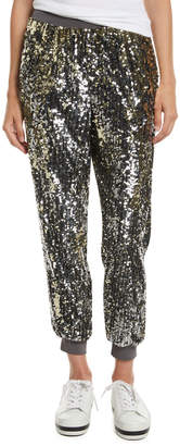 Alice + Olivia Pete Sequin Embellished Jogger Pants