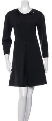 Sonia Rykiel Sonia by Jersey Embellished Flare Dress