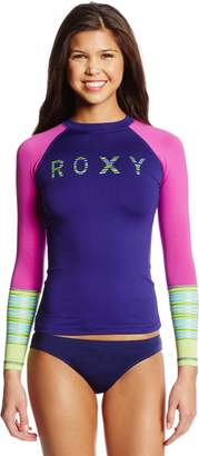 Roxy Junior's Perfect Stripe Long Sleeve Rash Guard