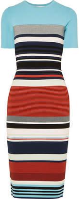 Diane von Furstenberg Striped Stretch-jersey Midi Dress - Blue