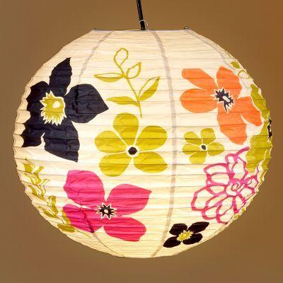 Flower Power Paper Lantern