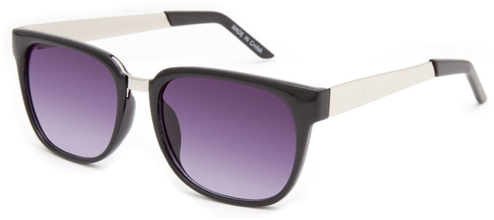 BLUE CROWN Metal Arm Sunglasses