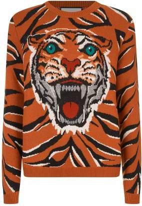 Gucci Jacquard Tiger Knit Sweater