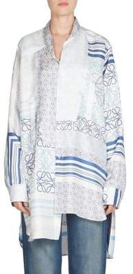 Loewe Silk Asymmetric Patch Shirt