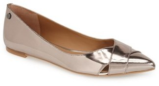 Women's Calvin Klein 'Gailia' Leather Pointy Toe Flat $98.95 thestylecure.com