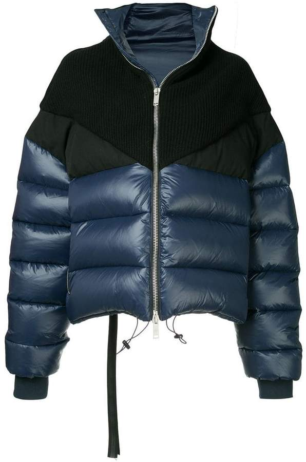 Unravel Project shiny hybrid down jacket