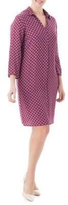 Olsen Crane-Print Shirt Dress
