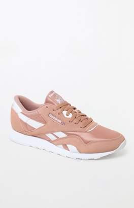 Reebok Classic Pink Nylon Shoes