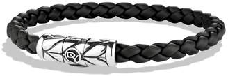 David Yurman 'Chevron' Woven Rubber Bracelet