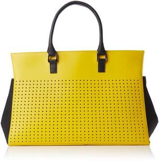Madame Folie Unisex Adults' Trapeze Handbag Yellow Size: One size