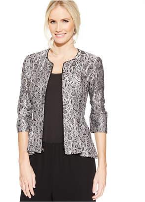 Alex Evenings Lace Peplum Jacket $139 thestylecure.com