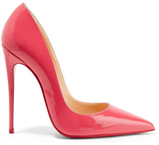 Christian Louboutin So Kate 120 Patent-leather Pumps - Pink