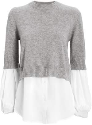 Brochu Walker Ebele Cashmere Layered Sweater