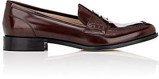 Barneys New York Women's Spazzolato Leather Penny Loafers - Wine