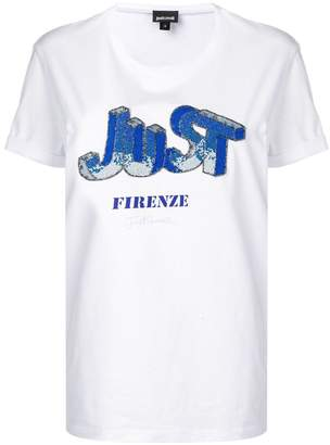 Just Cavalli bead embroidered T-shirt