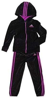 adidas Girls' 2 Piece Jacket Pants Tracksuit Set