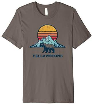Vintage Yellowstone National Park Retro Grizzly Bear T-Shirt