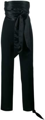 J.W.Anderson Cummerbund high-waist satin trousers