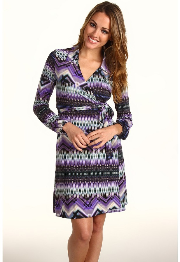 Christin Michaels Noelle Wrap Dress
