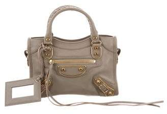Balenciaga 2016 Metallic Edge Mini City Bag