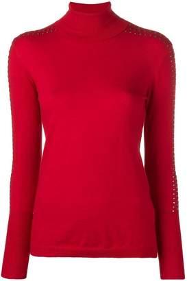 Liu Jo studded turtle-neck sweater