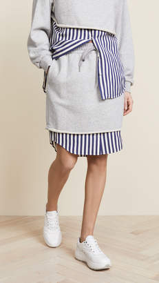 Alexander Wang Combo Pull On Skirt